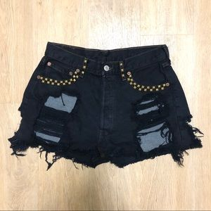 Vintage Levi's Studded Distressed Shorts